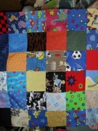 Patchwork large lap blanket 2kg (each one is different) -0