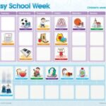 My Busy School Week Magnetic Chart-0