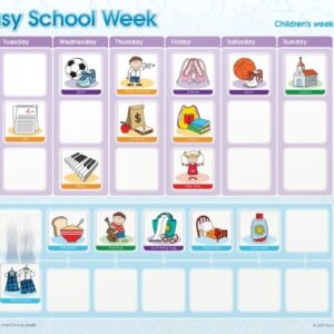 My Busy School Week Magnetic Chart-0