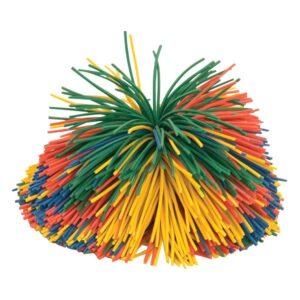 Rainbow Pom Pom Ball - Large - 115mm diameter-0