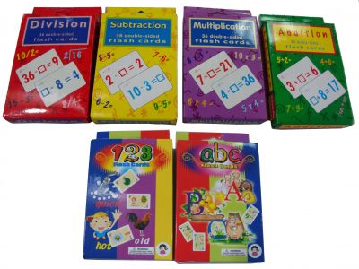 Flash Cards Subtraction and Division-0