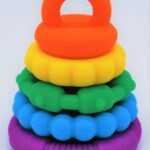 Rainbow Stacker Teether 1